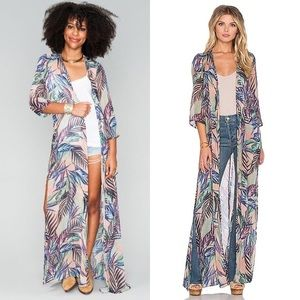 Show Me Your Mumu Karmyn Cape Palm Funday Duster